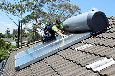Solar hot water system installation Penrith- Shipways Plumbing